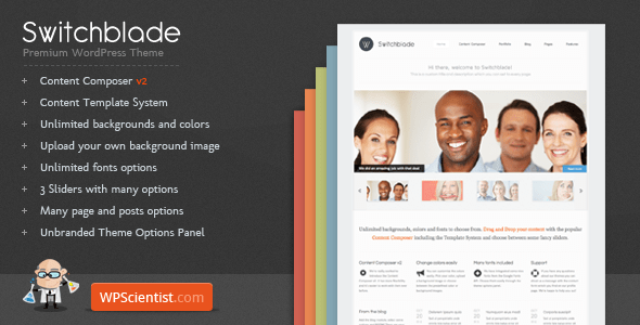 Switchblade WordPress Theme preview