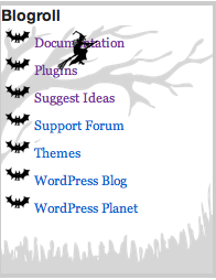 Halloween Blogroll Plugin