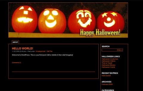 Bigsmile Pumpkins Halloween WordPress Theme