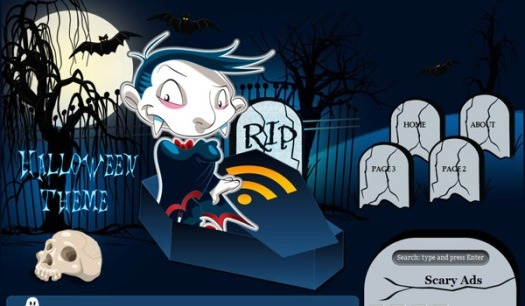 Halloween in Blue WordPress Theme