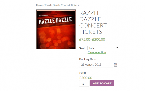 Photo Credit to Tyche Softwares - Frontend for the Razzle Dazzle Concert Ticket
