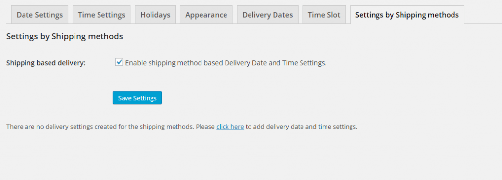 Photo Credits to Tyche Softwares - Settings after Shipping based delivery is enabled