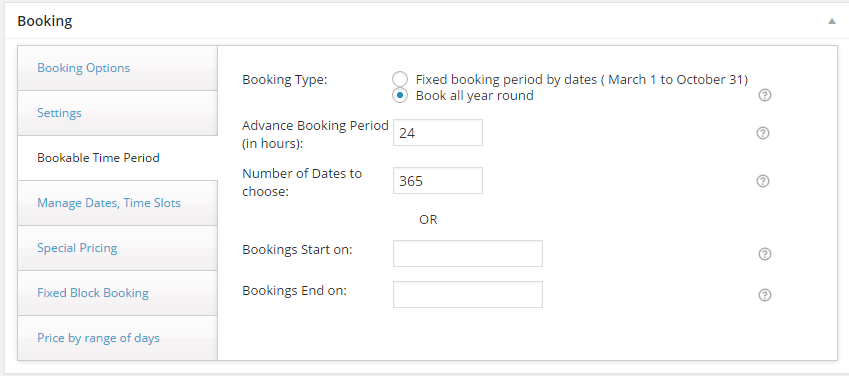 settings-for-bookable-time-period