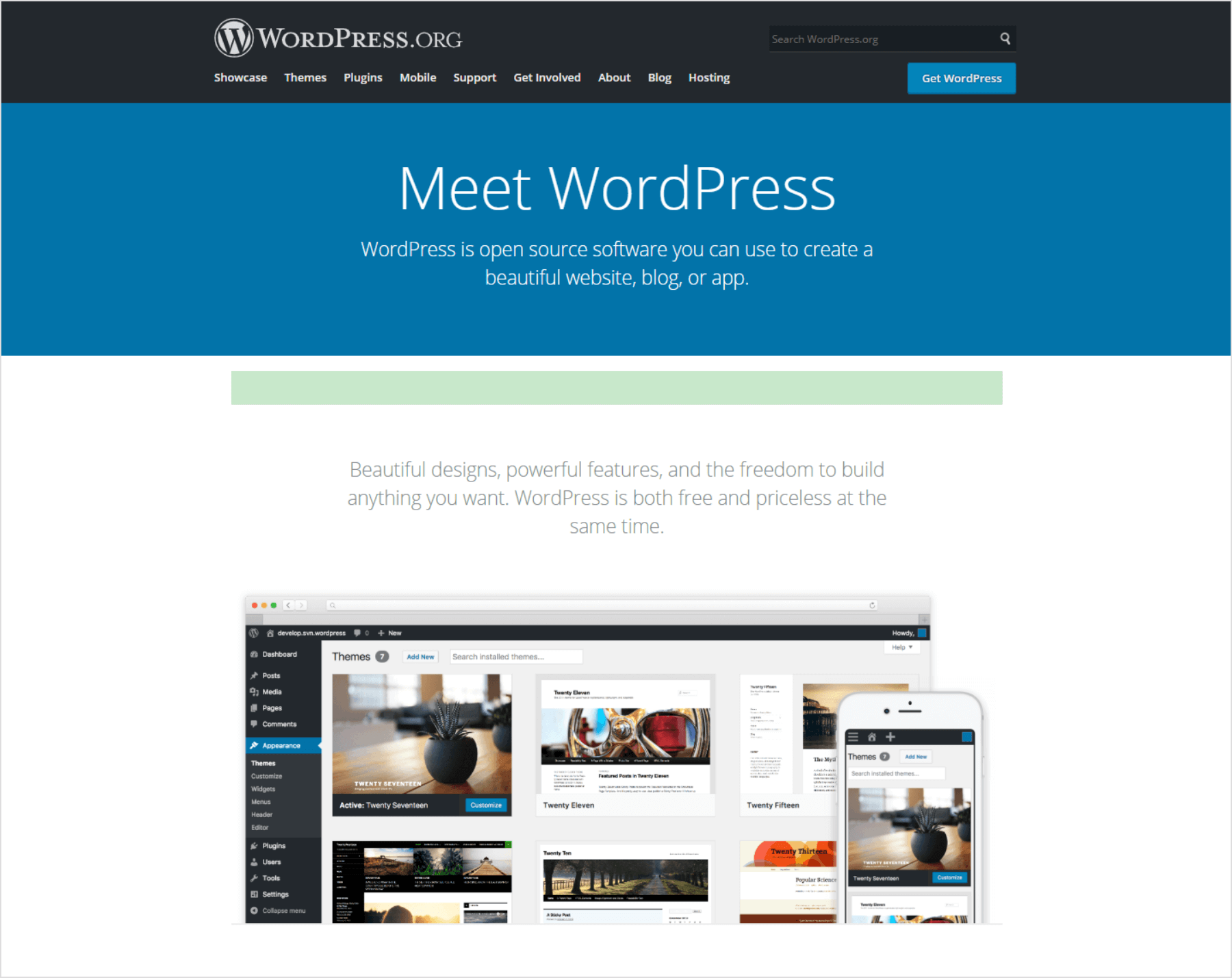 WordPress-home-page