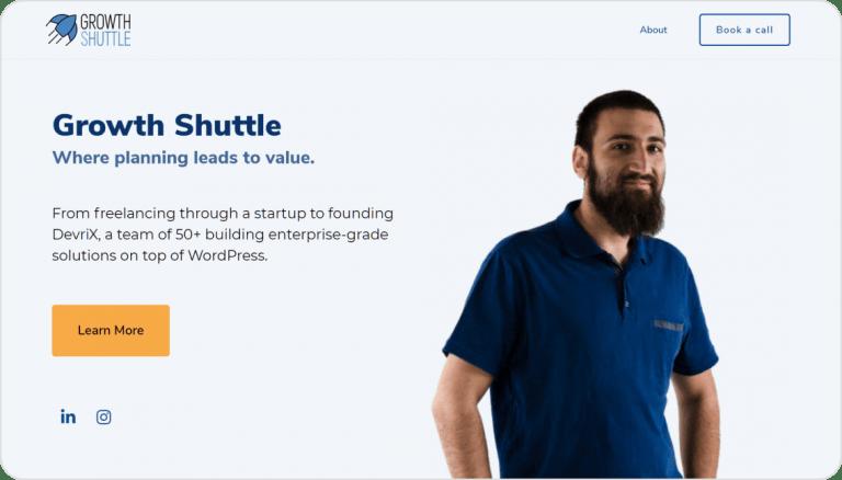 Growth Shuttle web